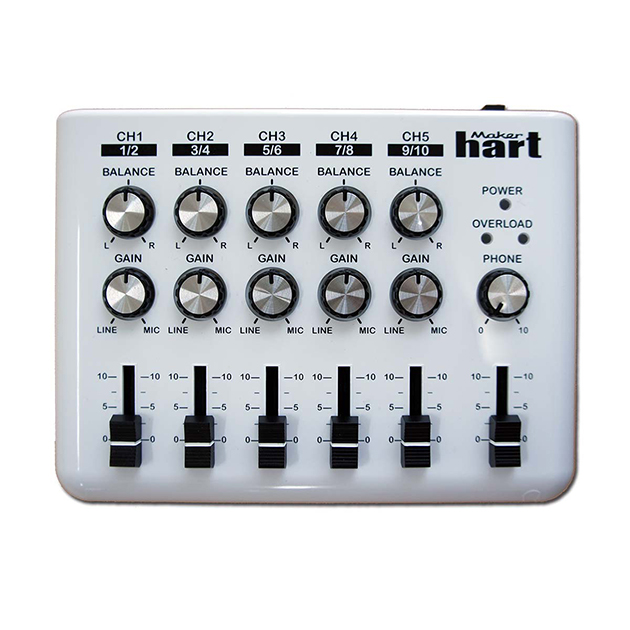 Loop Mixer - 5 channel stereo audio mixer with loop function 1